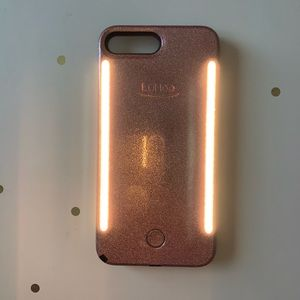 Rose Gold iPhone 7&8 Plus LuMee Duo Glitter Case